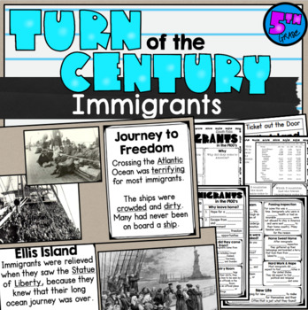 Immigration in the 1900's SS5H1d Ellis Island Web Quest and Lesson PowerPoint