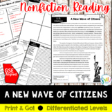 Immigration in the 1900s Reading and Writing Activity (SS5