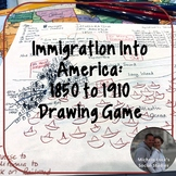 Immigration into America Introduction Drawing Game 1850-19