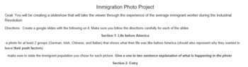 Immigration photo project