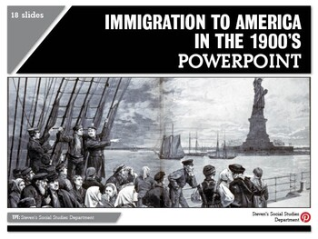 Immigration to America in the 1900's