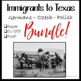 Immigration to Texas BUNDLE for Texas History 7th Grade