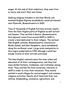 Immigration to the New World in the Colonial Era
