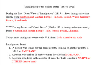 Immigration to the United States of America