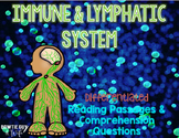 Immune & Lymphatic System Differentiated Nonfiction Reading Passages