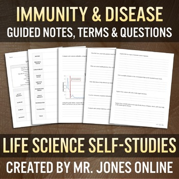 Immune System & Disease: Guided Notes / Self Study