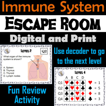 Immune System Escape Room - Science: Anatomy (Human Body Activity)