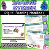 Immune System Human Body System Digital Reading Notebook Activity