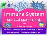 Immune System Mix and Match Activity for Anatomy & Physiol
