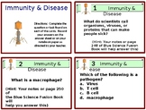 Immunity & Disease Task Cards