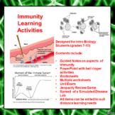 Immunity Lesson Activities
