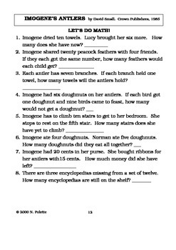 Imogene's Antlers Literature Guide