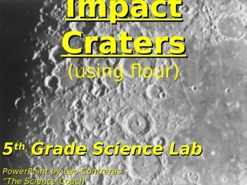 Impact Craters (Science TEKS 5.8D)