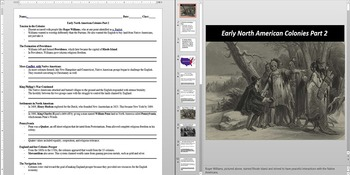 Impact of Colonization on Native Peoples Powerpoint AND Notes Worksheet