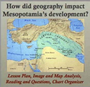 Impact of Geography on Mesopotamia - Reading and Image Analysis, Chart Organizer