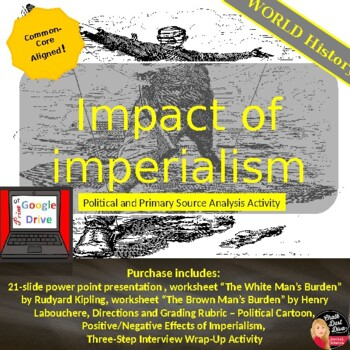 Impact of Imperialism Political Cartoon Project - Print & Digital