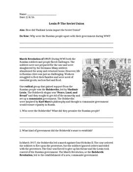 Impact of Lenin