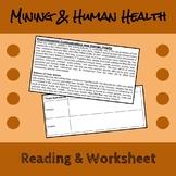 Impact of Mining on Human Health Reading & Worksheet