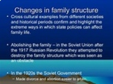 Impact of Social Changes on the Family
