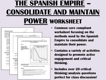 Impact of Spanish Conquest worksheet - Age of Exploration - Global/World History
