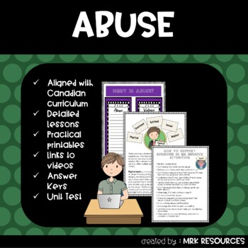 Abuse and Violence Grade 8 Health Unit