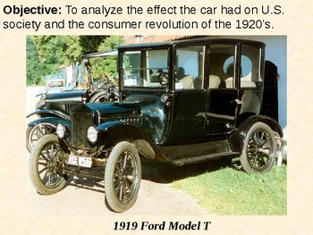 Impact of the Automobile on the Roaring 20's PowerPoint Pr