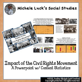 Impact of the Civil Rights Movement Powerpoint w/ Content Statistics
