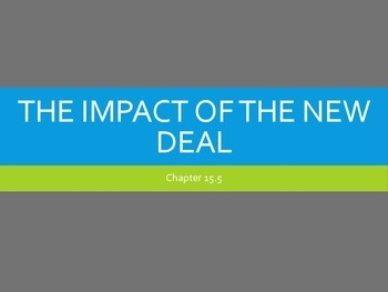 Impact of the New Deal
