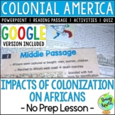 Impacts of Colonization on Africans, Colonial America