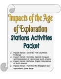 Impacts of the Age of Exploration-Student Packet & Stations Activities Resources