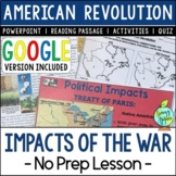 Impacts of the American Revolution, Effects of the US Revolution
