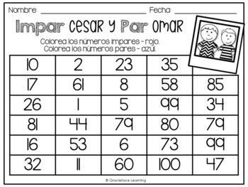 Impar Cesar y Par Omar - A Spanish Math Center