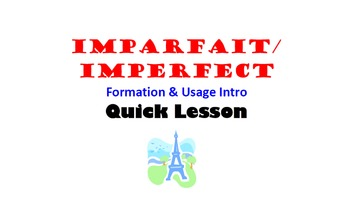 how to use imparfait in french