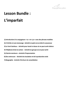 Imparfait Introduction (French Imperfect) + 5 activities CEFR