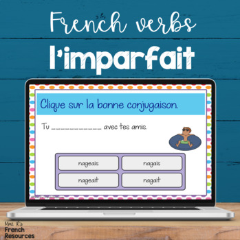 Imparfait digital task cards - French Boom cards