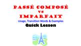 Imparfait vs Passe Compose Usage Comparison: French Quick Lesson
