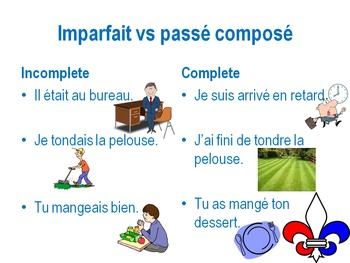 Imparfait vs Passé composé PowerPoint presentation