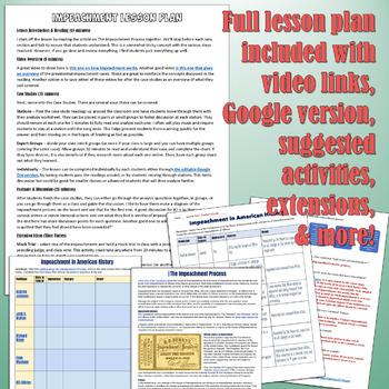 Impeachment Activity and Case Study Lesson Plan
