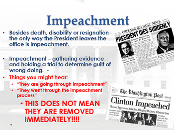 Impeachment Overview - PowerPoint and Notes