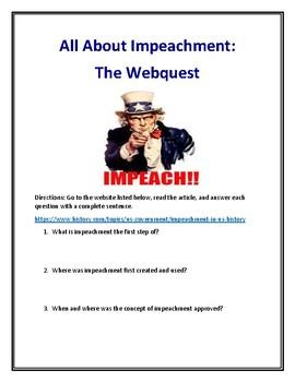 Impeachment Webquest (With Answer Key!)