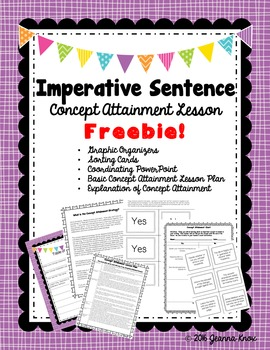 Imperative Sentence Concept Attainment Lesson