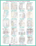 Imperative Verbs 20 Spanish Worksheet Bundle