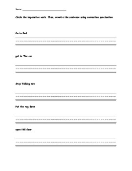 Imperative Verbs Worksheets & Teaching Resources | TpT