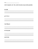 Imperative verbs grammar worksheet