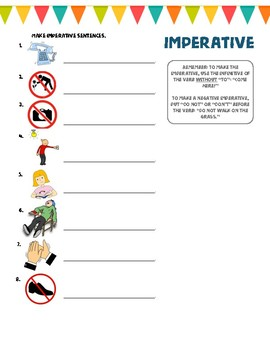 Imperative worksheet