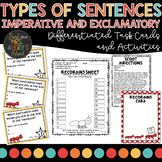 Types of Sentences   Imperative and Exclamatory Sentences Task Cards