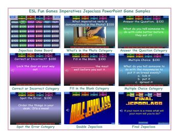 Imperatives Jeopardy PowerPoint Game Slideshow