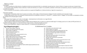 Imperatives Spanish Legal Size Photo Tic-Tac-Toe-Bingo Game