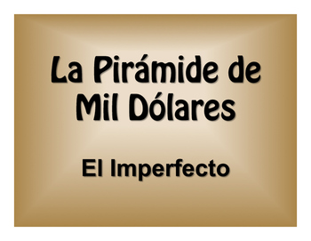 Spanish Imperfect $1000 Pyramid Game