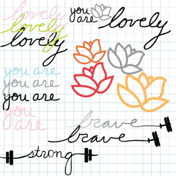 Imperfect Affirmations Word Art